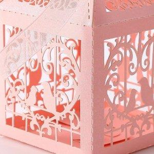 wunderschöne Schmucktasche mit Organza-Band in rosa-Glitzer NEU