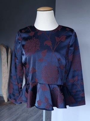 Zara Woman Ruffled Blouse multicolored