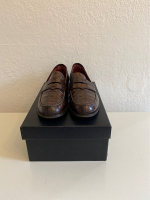 Lottusse Moccasins dark brown-cognac-coloured leather