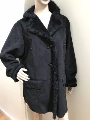 Wunderschöne schwarze Kunst Fell Jacke * superleicht und angenehm * XL 44-48