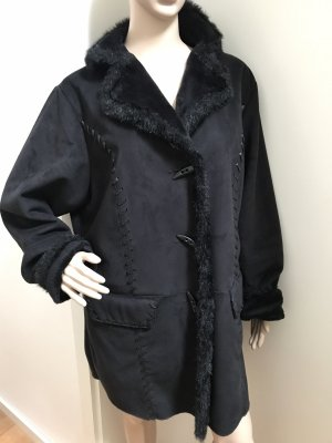 Wunderschöne schwarze Kunst Fell Jacke * superleicht und angenehm * XL 46/48