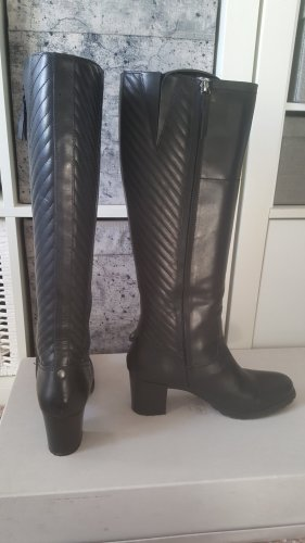 Wunderschöne schwarze Leder-Geox-Stiefel in Größe 41