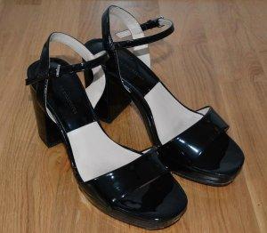 Zara Sandalias de tacón con plataforma negro