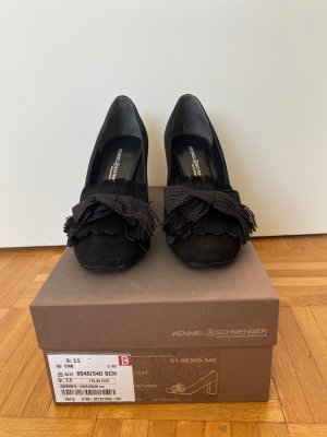!!! Wunderschöne schwarze Velourleder Pumps !!