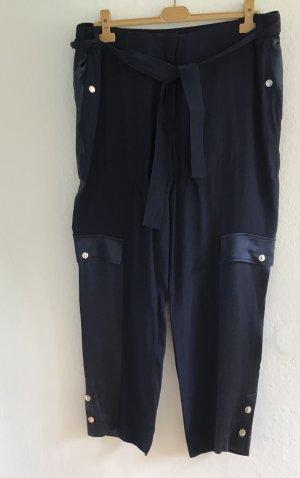 Escada Sport Pantalon cargo bleu viscose