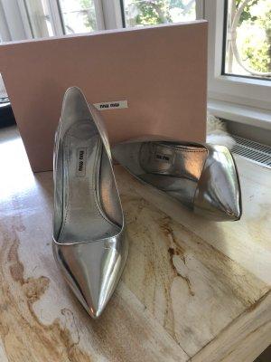 Wunderschöne silberne Miu Miu high heels / pumps in 40