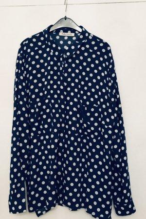 Wunderschöne Sommer Blue Polka- Dots- Muster von Betty Barclay, Gr. 38/40