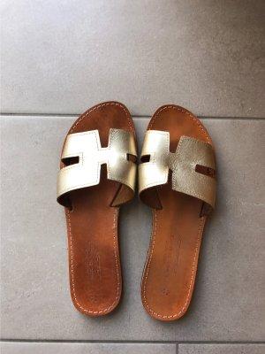 Hand made Sandały rzymskie złoto-brązowy