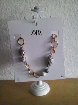 Zara Collier incrusté de pierres multicolore tissu mixte