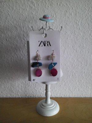 Zara Pendientes de cuentas multicolor tejido mezclado