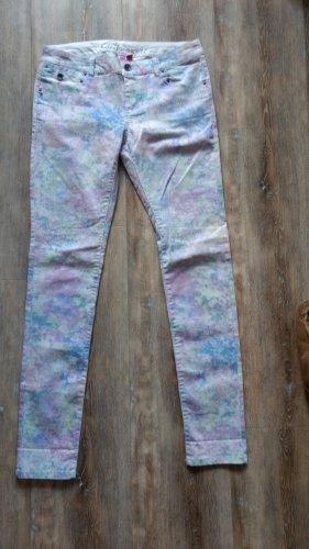 Esprit Pantalon taille basse multicolore coton