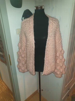 Handmade Coarse Knitted Jacket pink