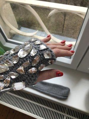 Wunderschöne Stulpen / Handschuhe mit Kristallen