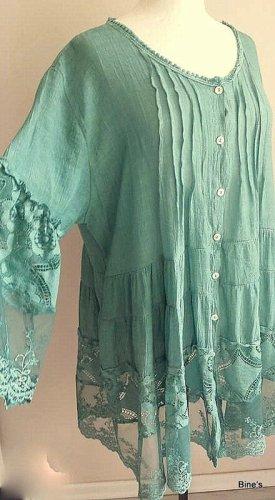 aus Italy Abito blusa verde chiaro Cotone
