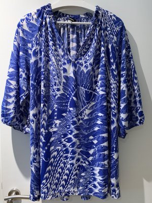 Anna Scholz for Sheego Tunic Blouse blue-white