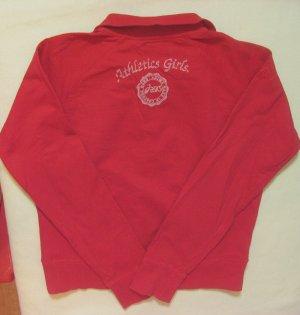 Wunderschöne Vintage ASICS Sweatjacke, Sportjacke, Trainingsjacke in Rot, Größe EU Medium, DE 38
