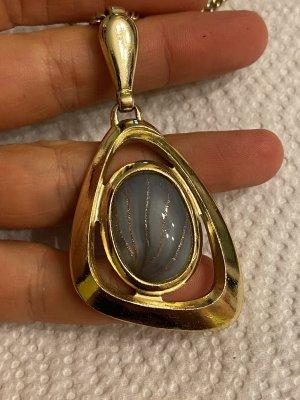 Wunderschöne vintage Halskette grosse Anhänger Stein