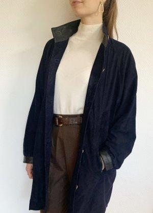 Vintage Giacca lunga nero-blu scuro