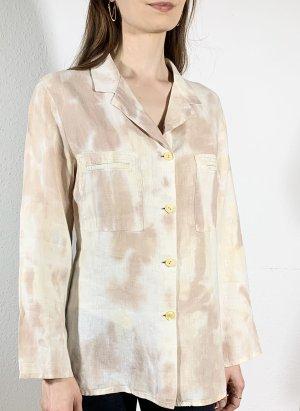 Vintage Lniana bluzka Wielokolorowy
