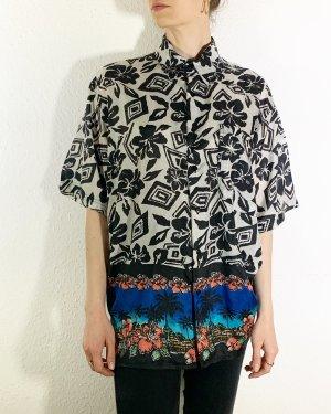 Wunderschöne Vintagebluse/ Vintagehemd Hawaii unisex aus Seide