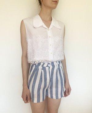 Wunderschöne, Vintageshorts mit Streifen in blau/ weiss