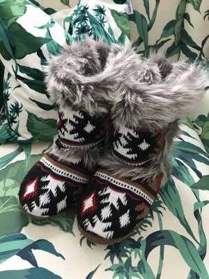 Manguun House Boots multicolored fake fur