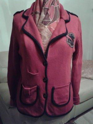 Basler Veste en tricot rouge laine