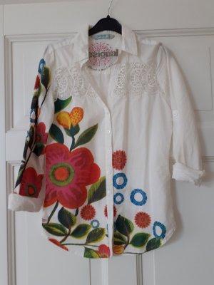 Wunderschöne weiß/bunte Bluse von Desigual
