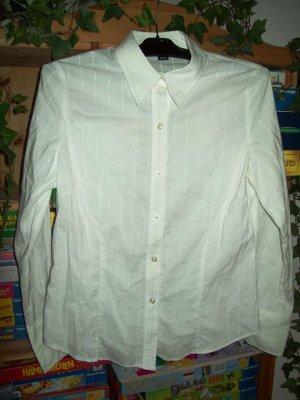 Wunderschöne weiße Bluse mit Silberstreifen von H& M in Gr. 40 TOP!