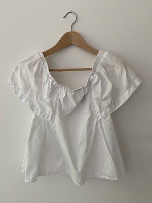 Wunderschöne weiße Carmen-Bluse für den Sommer