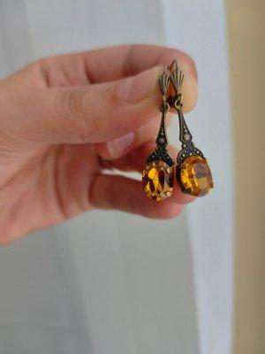 Wunderschöne wertige Ohrringe in Warmem Gelborangeton
