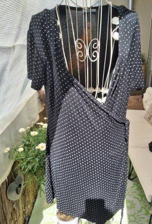 Body Cover Wikkelshirt wit-zwart