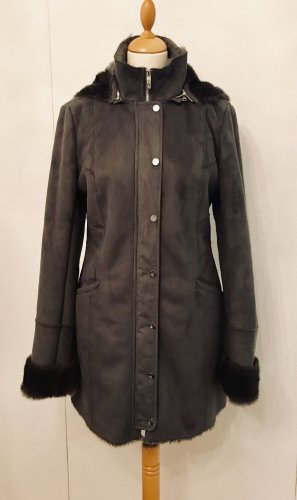 Armani Jeans Fake Fur Jacket grey polyester