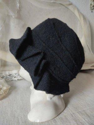 Wunderschöne Wollmütze schwarz Mütze 100% Wolle