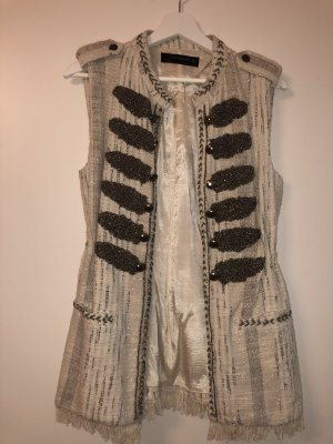 Zara Fringed Vest multicolored