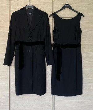 Wunderschöne zweiteilige Kleid + Mantel Virginia Wolle Original D & G Größe m