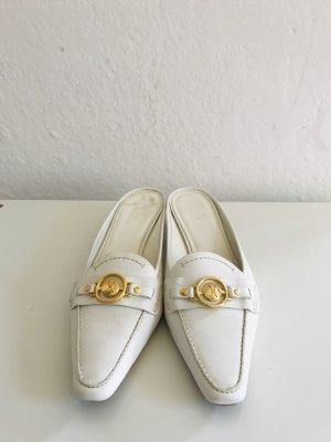 Cole Haan Sandalo con tacco bianco-oro Pelle