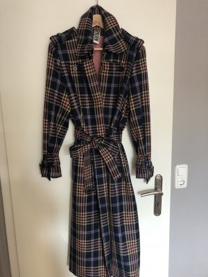 Drykorn Trench Coat multicolored wool