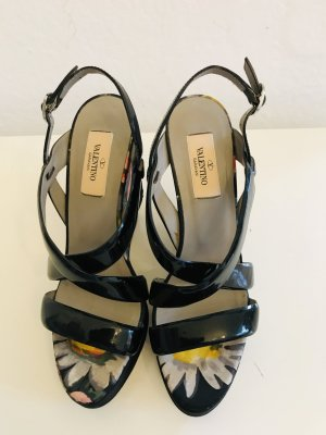 Valentino Garavani Wedge Sandals multicolored leather