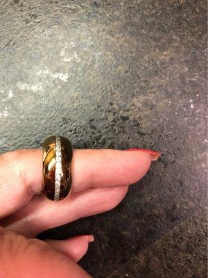 0039 Italy Bague incrustée de pierres bronze