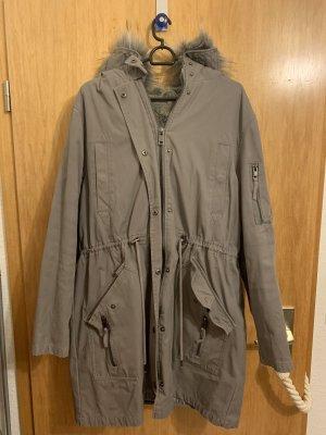 Asos Manteau à capuche gris clair-gris