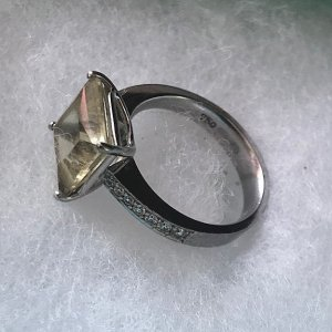 Wempe Gold Ring lime yellow-silver-colored