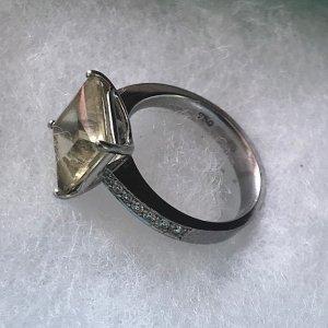 Wempe Gouden ring limoen geel-zilver
