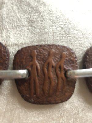 Ceinture de hanches brun-argenté cuir