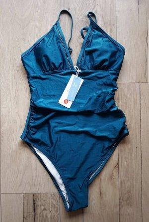 Cupshe Swimsuit blue-petrol