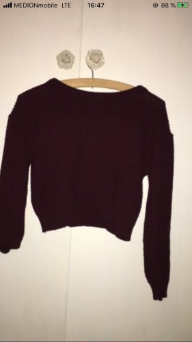 Wool Sweater bordeaux-brown red