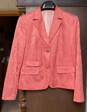 Blazer in tweed salmone Cotone