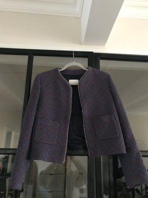 Sandro Blazer Tweed azul aciano-púrpura