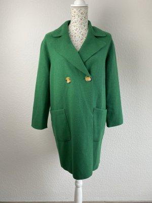 s.Oliver Black Label Wełniany płaszcz zielony Wełna