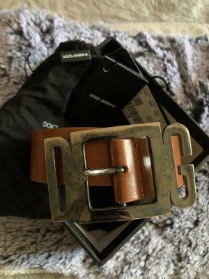 Dolce & Gabbana Cintura di pelle cognac Pelle